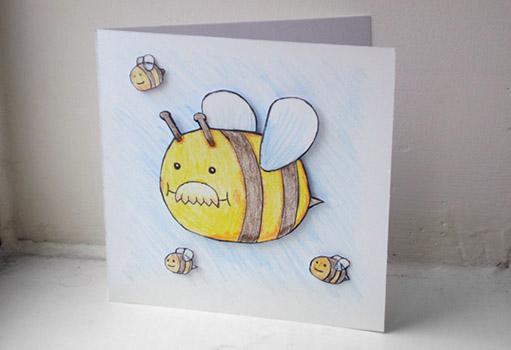 Dad-Bee Birthday Card