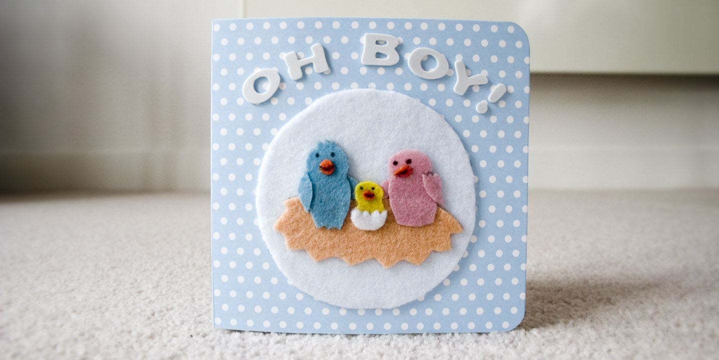 'Oh Boy!' greeting card