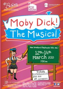 Abandoned version of the Moby Dick Show Poster