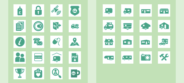 Assorted icons for menus
